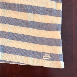 Nike Tops - Nike pale yellow and gray striped tank